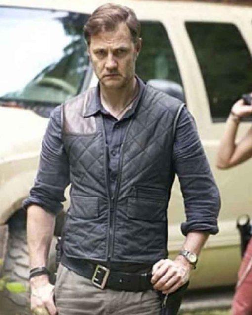 David Morrissey Leather The Walking Dead Governor Vest