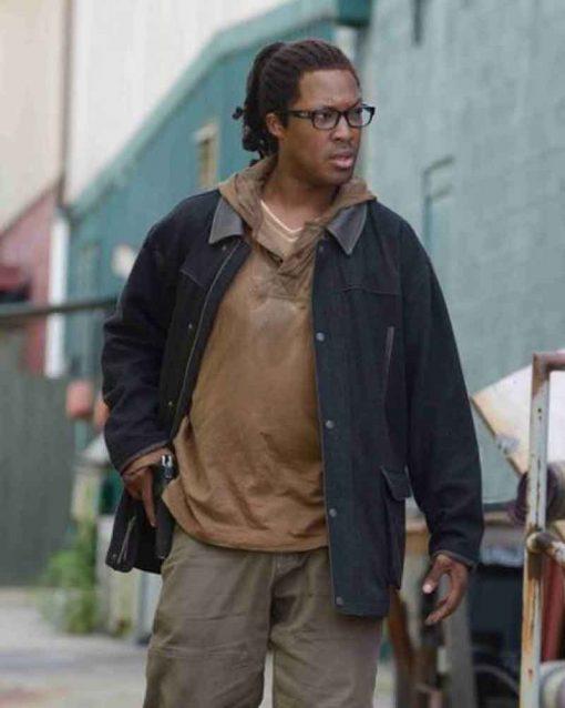 The Walking Dead Corey Hawkins Black Cotton Heath Jacket