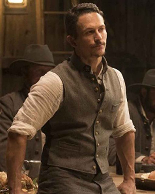 Jonathan Tucker Grey TV Series Westworld Major Craddock Vest