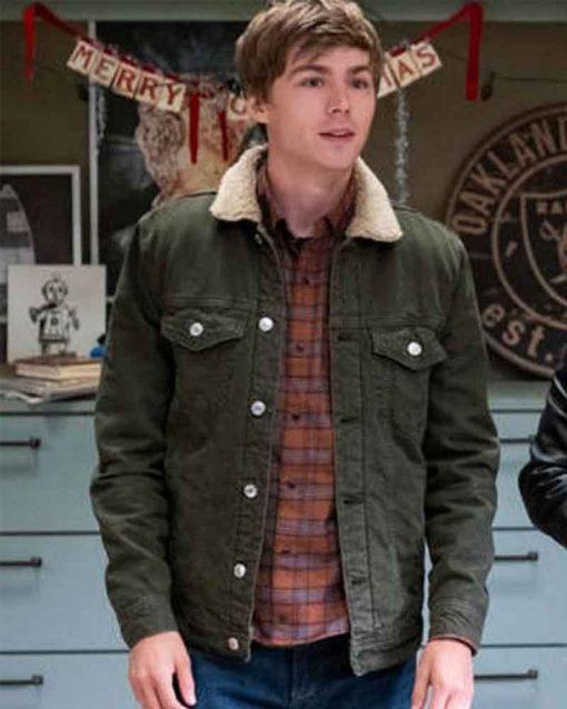 13 Reason Why S04 Miles Heizer Denim Alex Standall Jacket