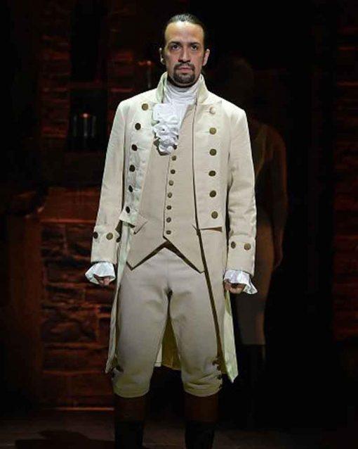 Hamilton Military Lin-Manuel Miranda Trench Alexander Hamilton White Coat