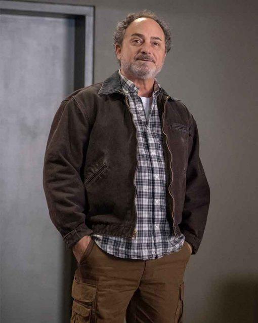 Kevin Pollak Brown Suede Leather Billions S04 Ep3 Douglas Mason Jacket