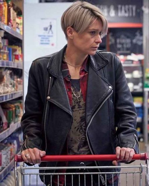 Sian Brooke Black Motorcycle Leather Body Of Water Stephanie Jacket