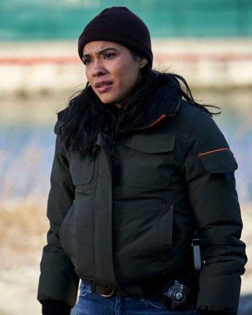 Vanessa Rojas Green Bomber Jacket