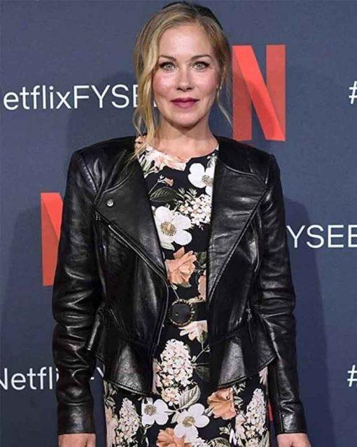 Christina Applegate Dead to Me Leather Jacket