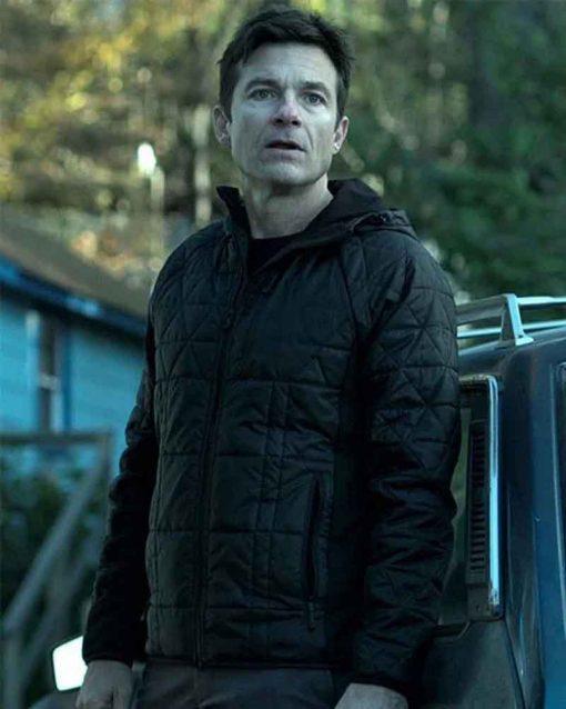 Jason Bateman Quilted TV Series Ozark Marty Byrde Jacket with Hood
