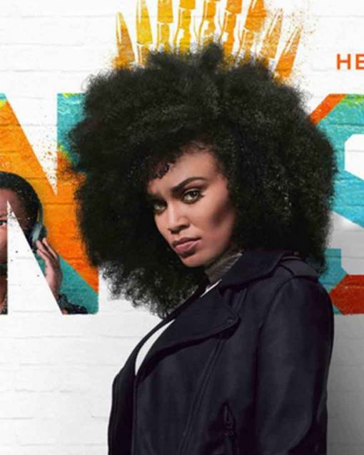 Pearl Thusi Motorcycle Queen Sono Leather Jacket