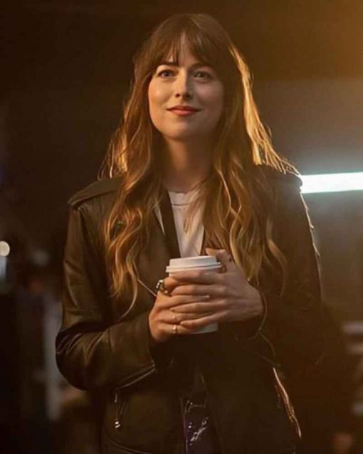 Dakota Johnson The High Note Maggie Sherwoode Leather Jacket