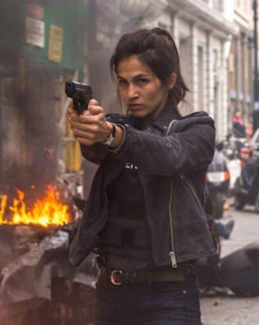 Amelia Roussel The Hitman's Bodyguard Black Jacket