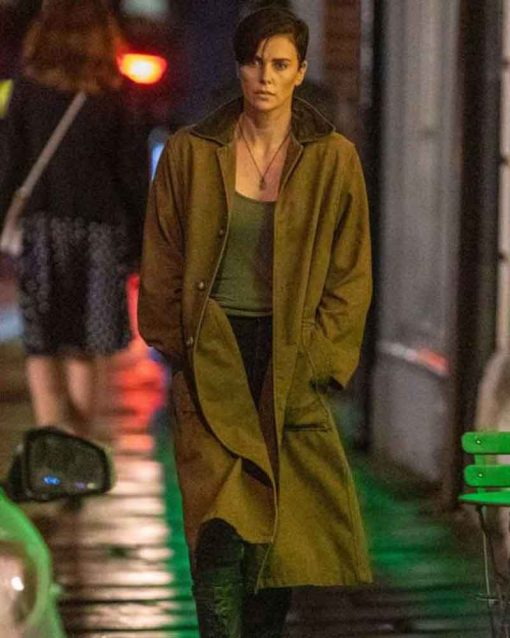 Charlize Theron Brown The Old Guard Andy Coat