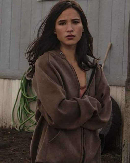 Kelsey Asbille TV Series Yellowstone Monica Dutton Hooded Jacket
