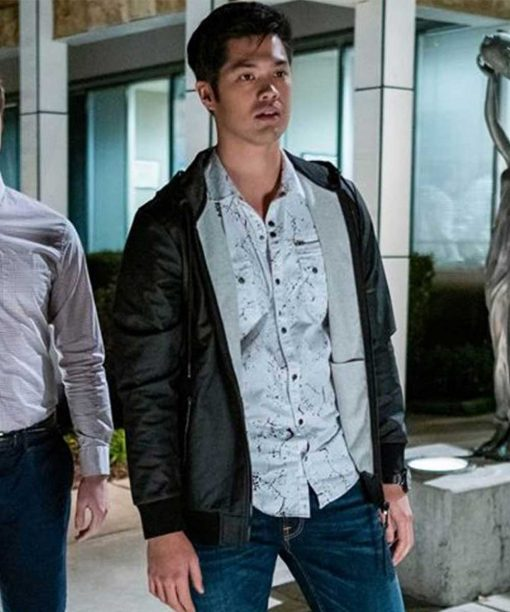 13 Reasons Why S04 Zach Dempsey Black Leather Bomber Jacket