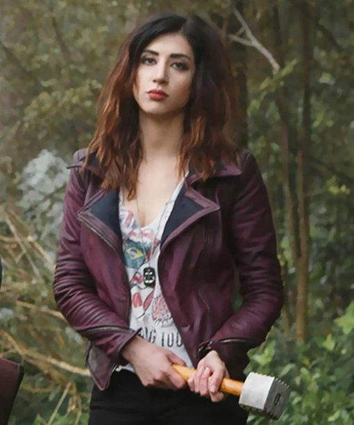 Ash vs Evil Dead Dana DeLorenzo Maroon Jacket