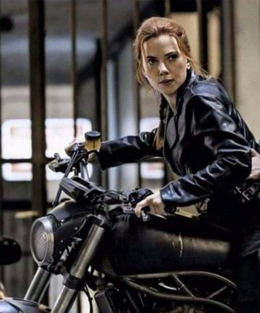 Scarlett Johansson Black Widow 2020 Natasha Romanoff Motorcycle Jacket