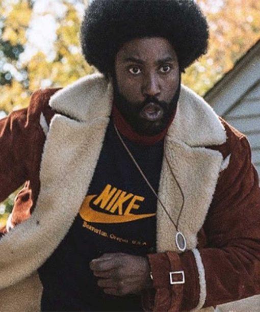 BlackKklansman Ron Stallworth Brown Shealing Jacket