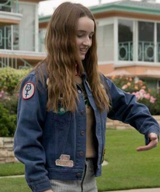 Booksmart Kaitlyn Dever Blue Denim Jacket