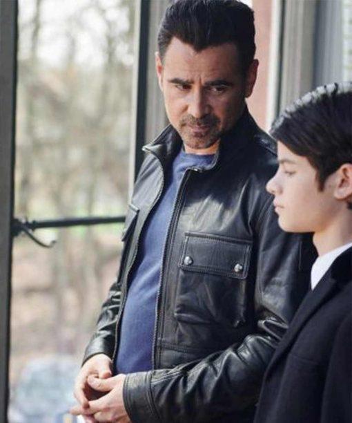 Colin Farrell Artemis Fowl Sr. Black Leather Jacket