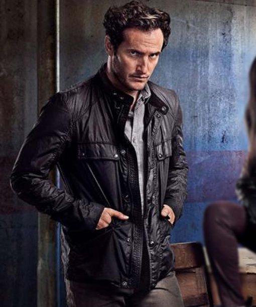 Condor S02 Deacon Mailer Black Leather Jacket