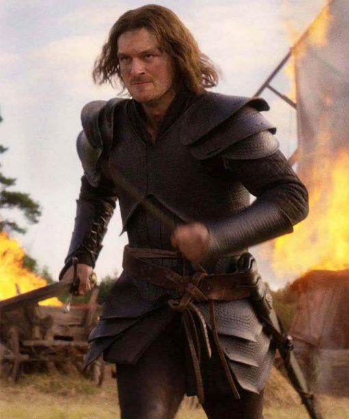 Cursed Gawain Black Leather Jacket