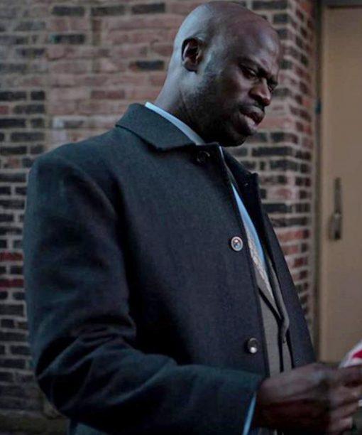 Garfield Wilson Black Dangerous Lies Detective Trench Coat