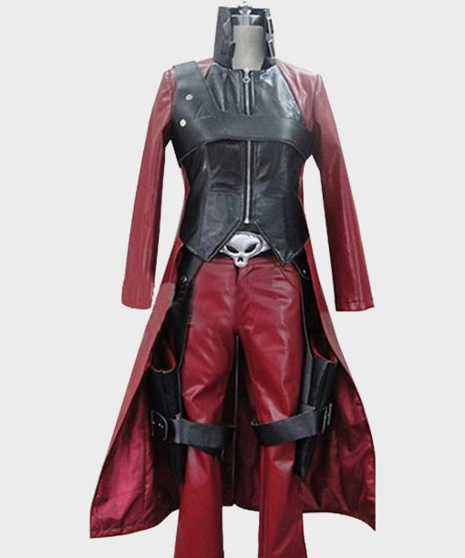 Video Game Devil May Cry 2 Trench Dante Leather Coat