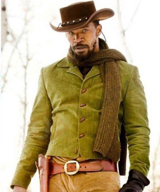 Jamie Foxx Green Denim Django Unchained Jacket