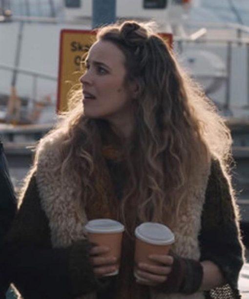 Eurovision Song Contest Rachel McAdams Fur Vest