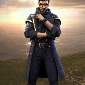 Video Game Free Fire Alok Leather Coat