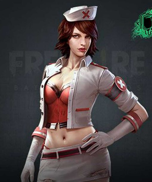 Video Game Free Fire Olivia White Jacket