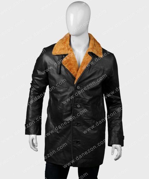 Gangs of London Kinney Edwards Black Shearling Leather Coat