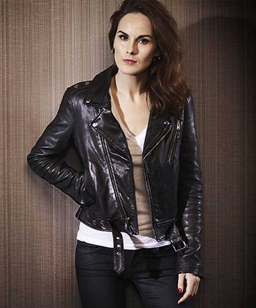 Good Behavior Black Michelle Dockery Leather Jacket