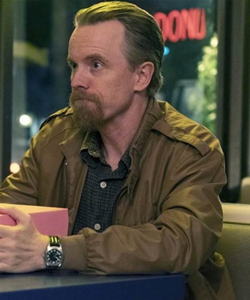 David Hornsby Good Girls Leslie Peterson Brown Bomber Jacket
