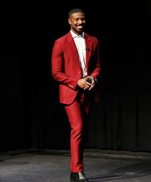 Just Mercy Michael B. Jordan Red Suit