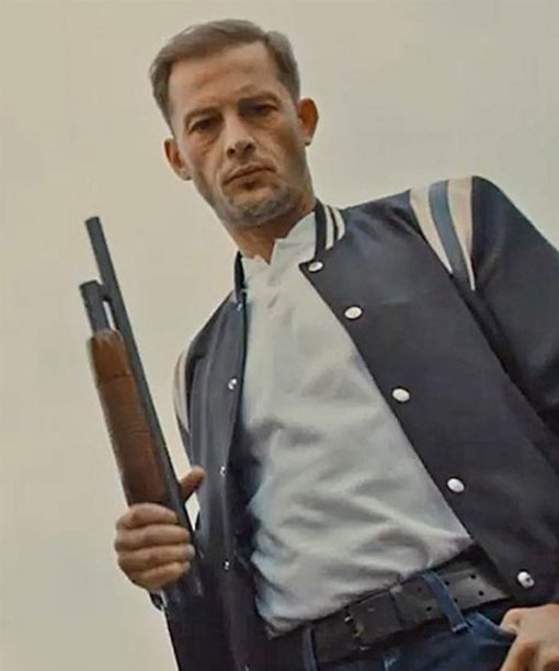Nicolas Duvauchelle Varsity Lost Bullet Areski Bomber Jacket