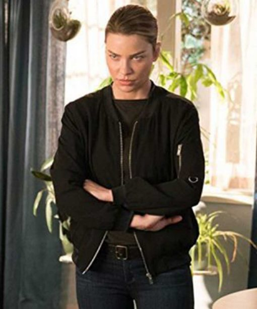 Lucifer S03 Lauren German Chloe Decker Black Bomber Jacket