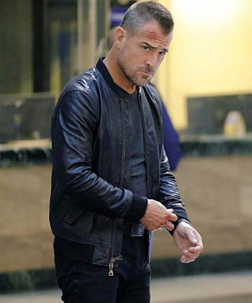 MacGyver Jack Dalton Black Bomber Leather Jacket