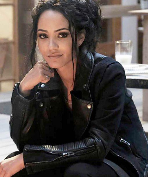 Riley Davis Black Leather Jacket