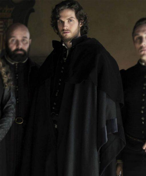 Daniel Sharman Medici Lorenzo de' Medici Black Coat