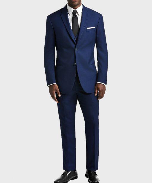 Gentlemen Style Mens Classic Blue Suit
