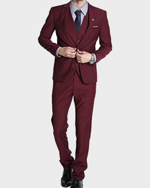 Gentleman Maroon Suit for Mens