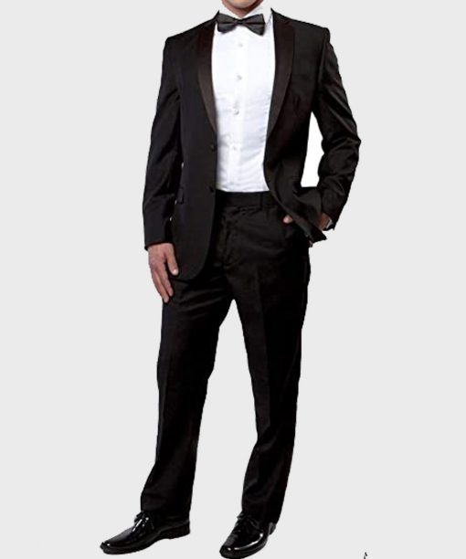 Elegant Style Two Buttons Tuxedo Suit