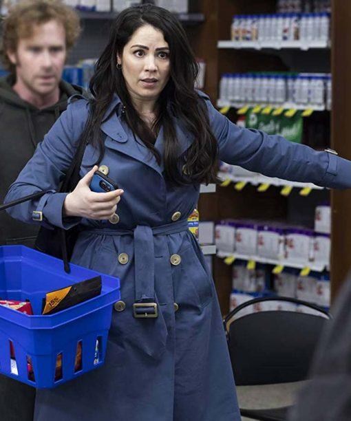 Karen No Good Deed Double Breasted Blue Coat