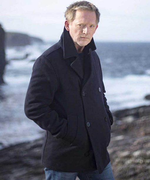 Douglas Henshall Shetland DI Jimmy Perez Peacoat