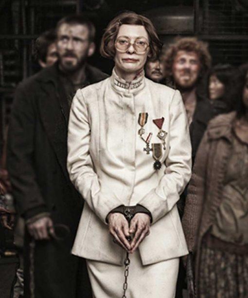 Karin Konoval White Snowpiercer Dr. Pelton Coat