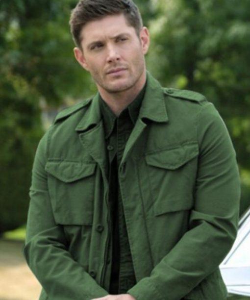Jensen Ackles Green Supernatural Dean Winchester Jacket