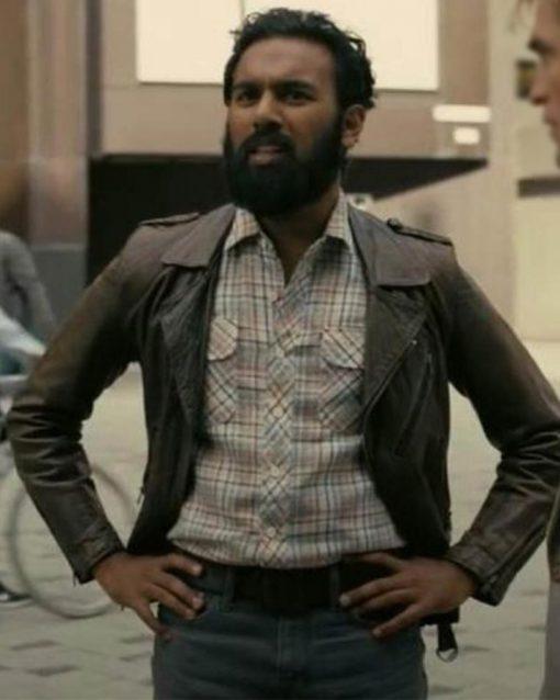 Tenet Mahir Brown Leather Jacket