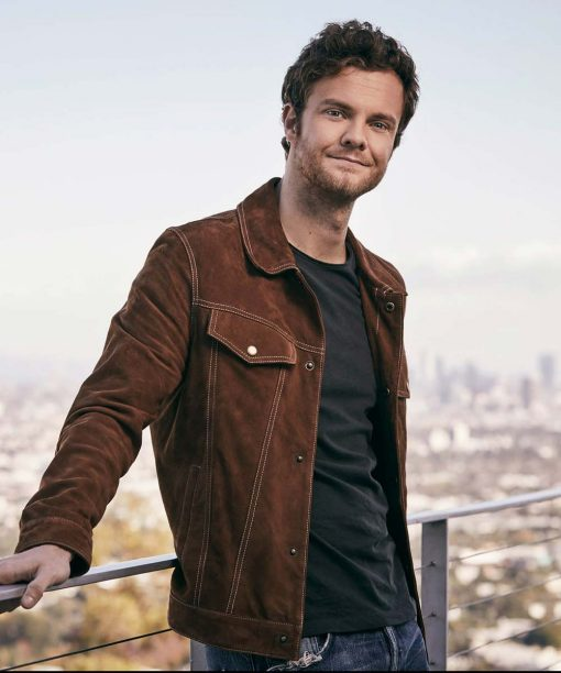 Jack Quaid Brown Suede Leather Jacket
