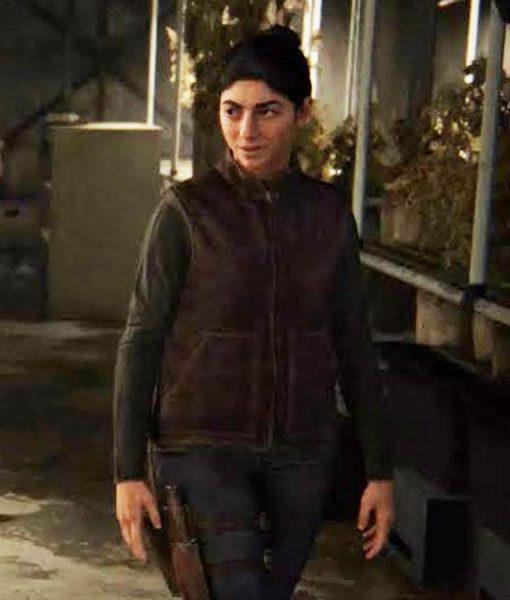 The Last Of Us Dina Maroon Leather Vest