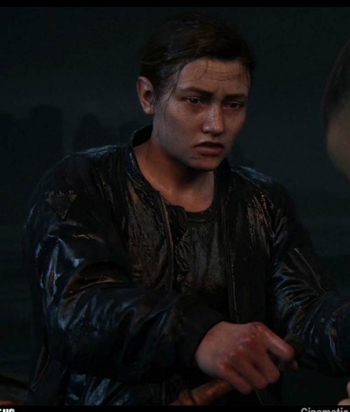 The Last of Us Abby Black Bomber Leather Jacket