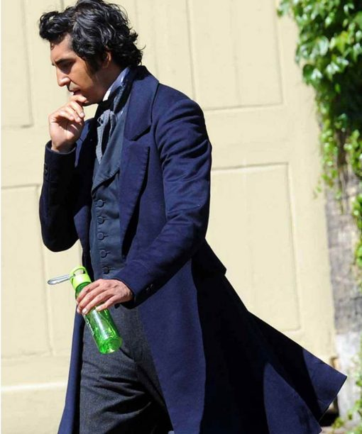 Dev Patel Blue The Personal History of David Copperfield Trench Coat